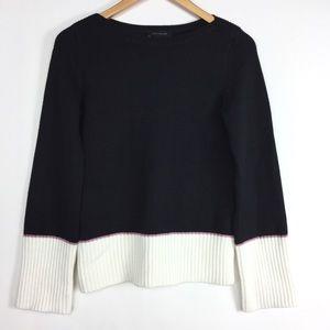 Ann Taylor Black White Block Pullover Sweater